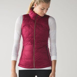 Lululemon Down For A Run Vest Berry Rumble pink